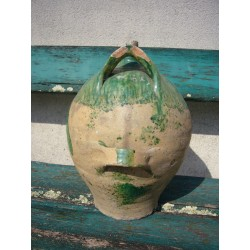 bouteille en terre vernissee vallee de l'eure n713