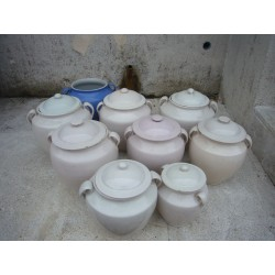 lot de pots en terre vernissee martres-tolosane n782