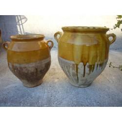 pots a graisse en terre vernissee n816 et 817
