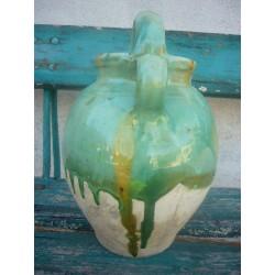 cruche du gard en terre vernissee n673